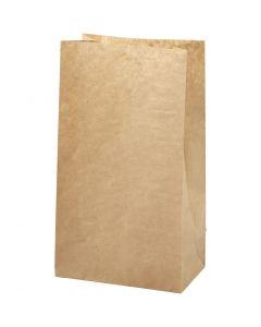 Sac en papier, dim. 15x9x27 cm, 50 gr, brun, 100 pièce/ 1 Pq.