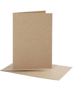 Cartes et enveloppes, dimension carte 10,5x15 cm, dimension enveloppes 11,5x16,5 cm, 10 set/ 1 Pq.