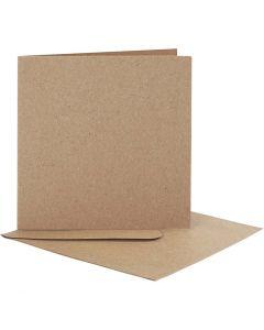 Cartes et enveloppes, dimension carte 12,5x12,5 cm, dimension enveloppes 13,5x13,5 cm, 10 set/ 1 Pq.