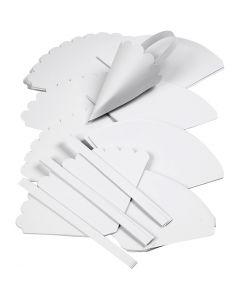 Cônes, H: 13 cm, d: 8 cm, blanc, 240 pièce/ 1 Pq.