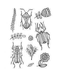 Tampons transparents, insectes, 11x15,5 cm, 1 flles