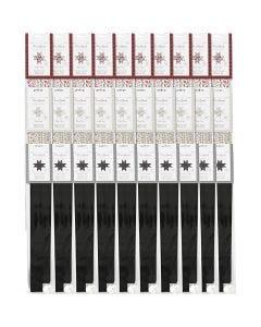 Bandes de papier étoiles, d: 6,5+11,5 cm, L: 15+25 mm, 3x10 Pq./ 1 Pq.