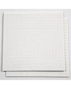 Coussinets 3D, dim. 5x5 mm, ép. 1 mm, blanc, 2 flles/ 1 Pq.