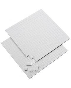 Coussinets 3D, dim. 5x5 mm, ép. 2 mm, blanc, 2 flles/ 1 Pq.
