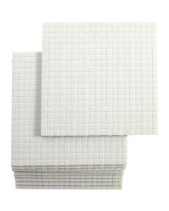 Coussinets 3D, dim. 5x5 mm, ép. 3 mm, 10x400 pièce/ 1 Pq.