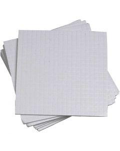 3D foam pads, dim. 5x5 mm, ép. 1 mm, 10x400 pièce/ 1 Pq.