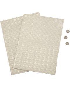 Points en silicone, H: 1,5 mm, d: 8 mm, 300 pièce/ 1 Pq.