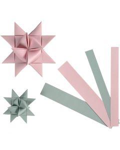 Bandes de papier étoiles, L: 15+25 mm, d: 6,5+11,5 cm, 60 bandes/ 1 Pq.