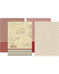 Papier découpage, 25x35 cm, 17 gr, 8 flles ass./ 1 Pq.