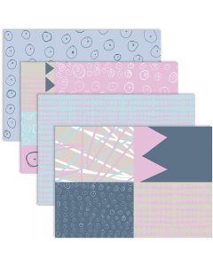 Papier découpage, 25x35 cm, 17 gr, 4x2 flles/ 1 Pq.