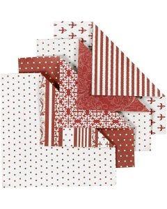 Papier Origami, dim. 10x10 cm, 80 gr, 50 flles ass./ 1 Pq.