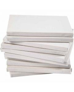 Châssis entoilés, A4, dim. 21x29,7 cm, 280 gr, blanc, 40 pièce/ 1 Pq.