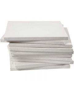 Châssis entoilés, dim. 30x30 cm, 280 gr, blanc, 40 pièce/ 1 Pq.