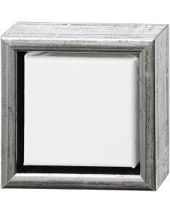 Châssis ArtistLine, prof. 3 cm, dim. 14x14 cm, blanc, argent antique, 1 pièce