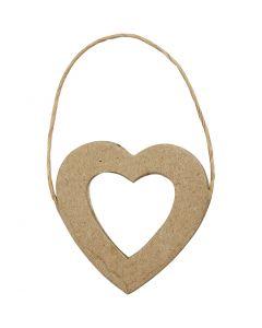 Cadre Coeur, H: 7,5 cm, L: 7 cm, 6 pièce/ 1 Pq.