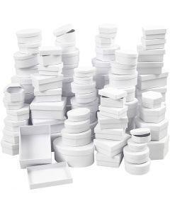 Boîtes , d: 5,5-16 cm, blanc, 168 ass./ 1 boîte