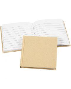 Cahier de notes, dim. 10x10 cm, 60 gr, brun, 1 pièce