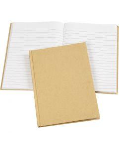 Cahier de notes, A5, 60 gr, brun, 1 pièce