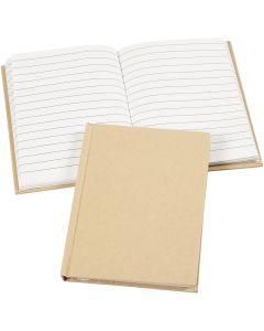 Cahier de notes, A6, 60 gr, brun, 1 pièce