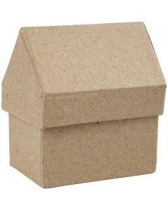 Boîtes Maisons, H: 10,5 cm, dim. 6x8,5 cm, 4 pièce/ 1 Pq.
