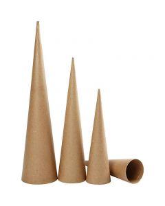 Cônes hauts, H: 30-40-50 cm, d: 8-9-11,5 cm, 3 pièce/ 1 Pq.
