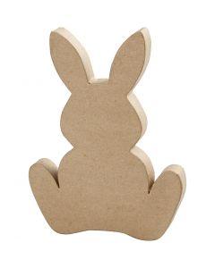 Lapin de Pâques, H: 25 cm, prof. 2,5 cm, 1 pièce