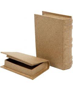 Boîtes livres, dim. 8x11,5x2,5 cm, 2 pièce/ 1 set