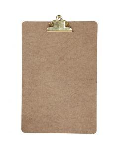 Plaque à pince pour dessin ou écriture, A4, 230x340 mm, ép. 3 mm, laiton, 1 pièce