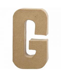 Lettre, G, H: 20,5 cm, L: 11,5 cm, ép. 2,5 cm, 1 pièce