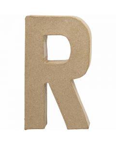 Lettre, R, H: 20,5 cm, L: 11,7 cm, ép. 2,5 cm, 1 pièce