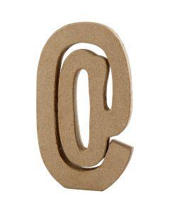 Signe, @, H: 19,9 cm, L: 11,5 cm, ép. 2,6 cm, 1 pièce