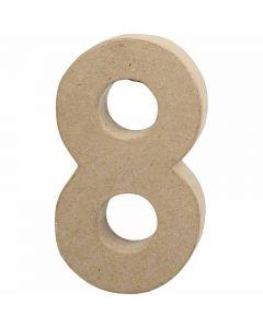 Chiffre, 8, H: 20,2 cm, L: 11 cm, ép. 2,5 cm, 1 pièce
