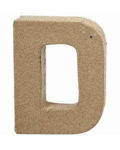 Lettre, D, H: 10 cm, L: 7,7 cm, ép. 1,7 cm, 1 pièce