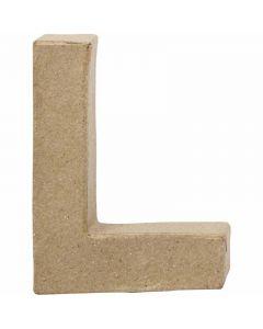 Lettre, L, H: 10 cm, L: 7,5 cm, ép. 1,7 cm, 1 pièce