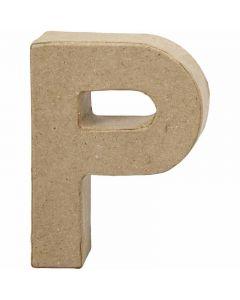 Lettre, P, H: 10 cm, L: 7,7 cm, ép. 1,7 cm, 1 pièce