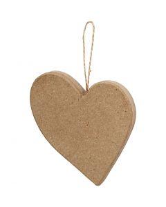 Coeur asymétrique, H: 10,5 cm, 1 pièce