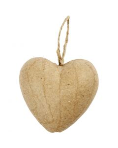 Coeur, H: 6,5 cm, 9 pièce/ 1 Pq.