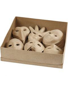 Masques, H: 12-21 cm, 6x10 pièce/ 1 Pq.