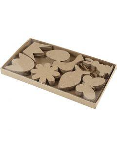 Décorations à accrocher, Pâques, H: 5-9 cm, ép. 2 mm, 80 pièce/ 1 Pq.