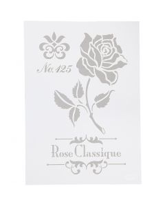Pochoir, Roses, A4, 210x297 mm, 1 pièce