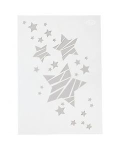 Pochoir, étoiles, A4, 210x297 mm, 1 pièce