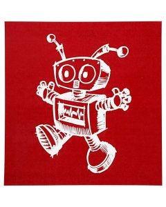 Pochoirs, robot, 20x22 cm, 1 flles