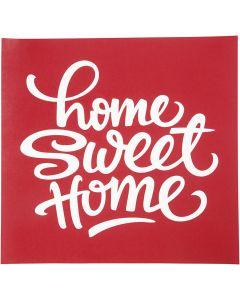 Pochoirs, Home sweet home, 20x22 cm, 1 flles