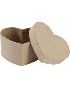 Boîte à décorer en papier mâché, H: 6 cm, dim. 11,5x11,5 cm, 1 pièce