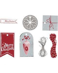 Étiquettes cadeaux, 250 gr, 1 set