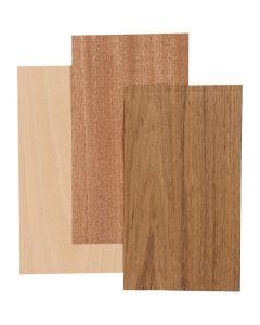 Placage bambou, 12x22 cm, ép. 0,75 mm, 3 flles/ 1 Pq.