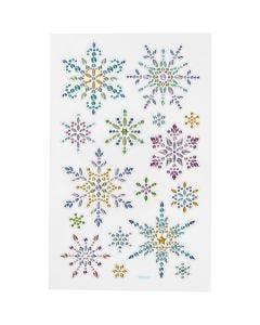 Autocollants diamant, flocons de neige, 10x16 cm, 1 flles