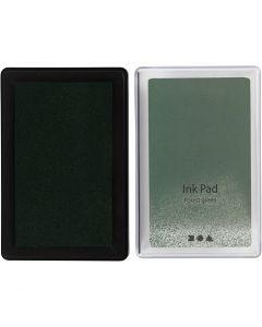 Tampon encreur , H: 2 cm, dim. 9x6 cm, vert citron, 1 pièce