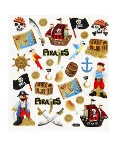 Autocollants, Pirates, 15x16,5 cm, 1 flles
