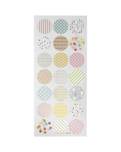 Autocollants pastels, pastels, 10x23 cm, 1 flles